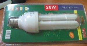 2u blister packing energy saving lamp