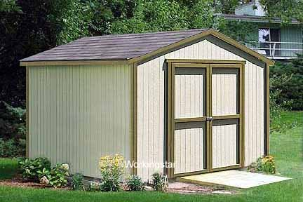 12' x 16' Gable Roof Style Storage Shed Project  Plans #W11216
