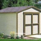 12' x 20' Gable Storage Shed Do-it-yourself Project Plans #W11220