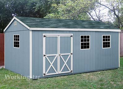 10 39 x 20 39 gable storage shed do it yourself prject plans for Garden shed designs yourself