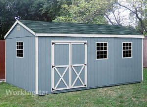 10' x 20' Gable storage Shed Do-it-yourself  Prject Plans #E1020