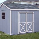 10' x 12' Gable Design Storage Shed Project Plans #E1012