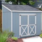4' x 8' Lean To Roof Storage Shed Blueprints / Project Plans #E0408