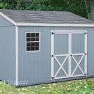 4' x 10' Lean To Roof  Storage Shed Blueprints /  Project Plans #E0410