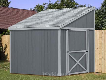 6 39 X 8 39 Lean To Shed Plans How To Build A Storage Shed E0608