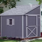 6' x 10' Lean To Roof Storage Shed Blue Prints / Project Plans #E0610