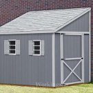 6' x 12' Lean To Roof Storage Shed Blue Prints / Project Plans #E0612