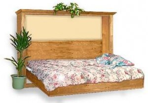 Deluxe Side Murphy Wall Full Bed Project Plans, Design #2DLX2