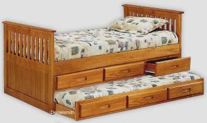 twin captains bed plans