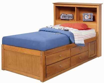 Children 39 S Twin Bookcase Captain 39 S Bed Project Plans
