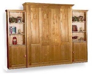 Deluxe Murphy/wall Queen Bed Woodworking Plans, Design #3DLX1