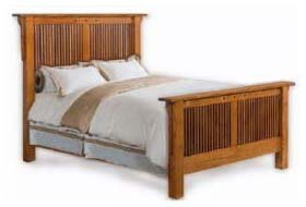 Mission Style Queen Bed Woodworking PlanDesign, Design #3MSSN