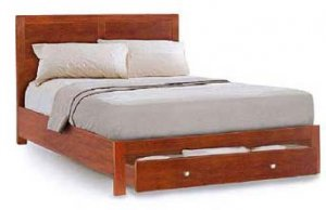 American Contemporary Queen Bed Project Plans, Design #3AMC1