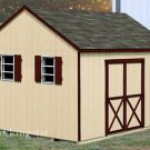 12&#39; X 12&#39; Gable Roof Style Storage Shed Plans, Design #E1212