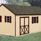 12&#39; x 20&#39; Gable Storage Shed Blue Print Plans, Design #E1220