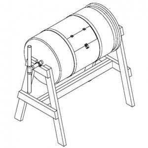 How to Build a Rotating Barrel Compost, Project Plans #RBCP