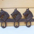 Cast Iron Hook Horse Hanger Towel Tack Barn Home