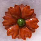 Vintage Retro Enamel Flower Pin Brooch Fall Colors Wear Crafts Bouquets