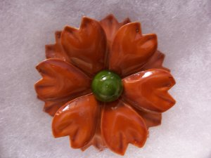 Vintage Retro Enamel Flower Pin Brooch Fall Colors Wear Crafts Bouquets