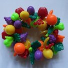 Vintage Fruit Salad Plastic Tutti Frutti Bracelet Colorful