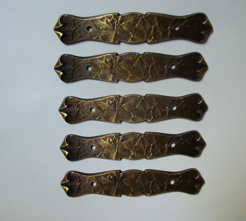 Vintage  Brass Escutcheon Craft Steampunk Drawer Cabinet Hardware Lot 70s