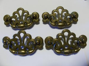 Ornate Brass Drawer Pull Hardware Lot Vintage Shabby Pinterest Project Chic