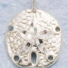 CH-48 : STERLING SILVER MEDIUM DC SAND DOLLAR CHARM