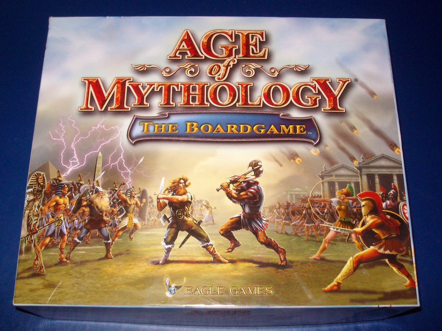 2003 AGE OF MYTHOLOGY - THE BOARD GAME - MICROSOFT -- NORSE, GREEK, ROMAN - EXCELLENT CIB