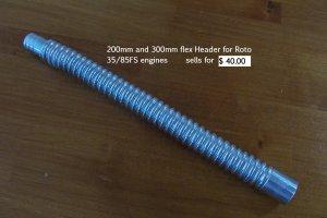 200mm or 300mm flex Header for Roto35/85fs