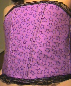 S/O SALE Rare Purple Star Bonded Corset Bustier