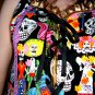 Day of the dead Gothic Gold PVC corset styled shirt Bustier/Vest