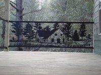 Painted steel cabin handrail's