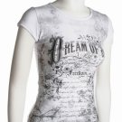 White Graphical Top Dream of Joy Jr. Medium