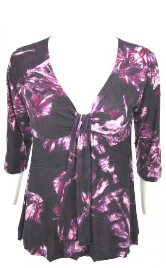 Fabulous Purple Cinch Bust Top Plus Size 1x