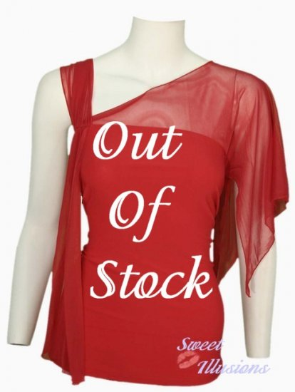 Seductive Vibrant Red Top Perfect for New Years Eve!