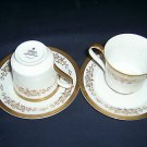 Mikasa Colony Gold cups/saucers -  - 5860