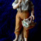 Andrea By Sadek  figurine-Boy/girl w/ basket of flowers