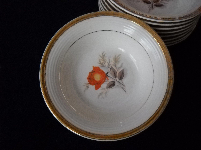 Limoges Triumph Vermillion Rose salad plate(12 availbl