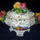 Antique Capodimonte tureen- HAND PAINTED