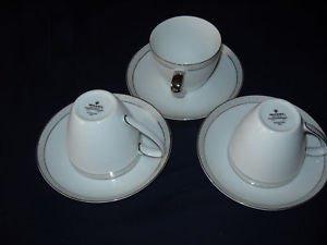 Mikasa Aristocrat tea cups/saucers (8 available)#8396