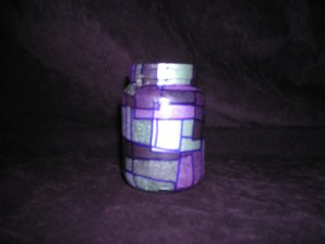 Recycled Jar Tealight Holder - Purple Passion