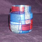 "Recycled Jar Tealight Holder - Red, White and Blue ""The Patriot"""