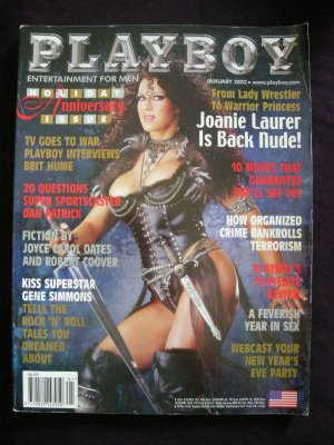 Playboy Magazine January 2002 Joanie Laurer (Chyna, China)