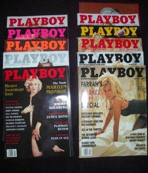 Playboy Magazine Year 1997 ALL but April (Farrah, Jenny, Pamela)