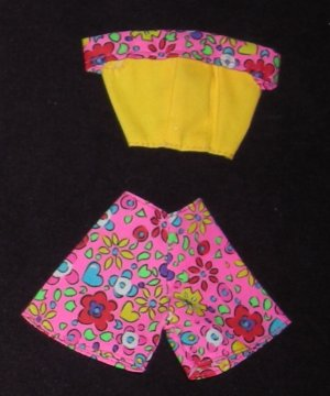 Barbie Outfit Shorts and Shirt (Barbie clothes, clothing, outfit, shorts, shirt)