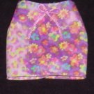 Barbie Skirt Purple with Leopard and Flowers (Barbie clothes, clothing, skirt)