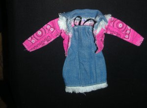 Barbie Clothes Denim Dress with Jacket