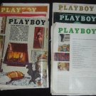 Vintage Playboy Magazines 1964 (7 issues)