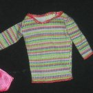 Barbie Clothes Shirt Horizontal Stripe Multi Colored (barbie fashions, doll clothes, outfits)