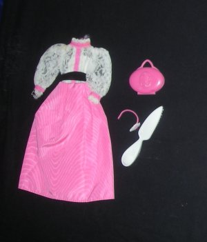 Angel Face Doll Outfit Purse Headband Brush #5640 Vintage 1982 (Barbie clothes clothing dress)